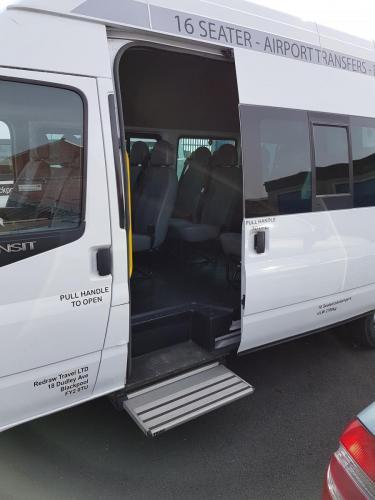 Minibus with step
